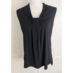 Dana Buchman • Black Pleated Accent Blouse